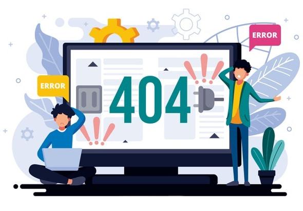 Error - 404 page resources not found